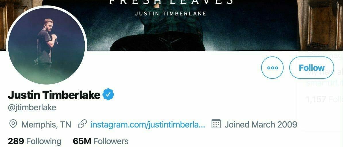 Justin Timberlake Twitter