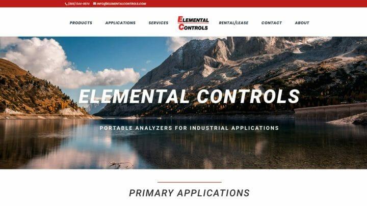 Thumbnail of Web Design project: Elemental Controls