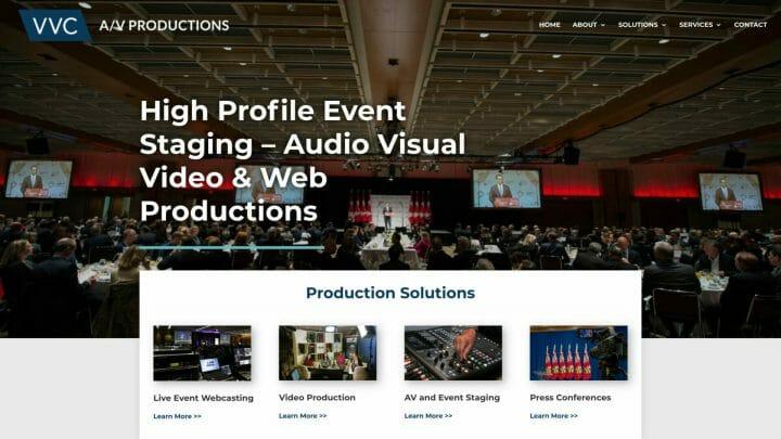 Thumbnail of Web Design project: Van Valkenburg Communications