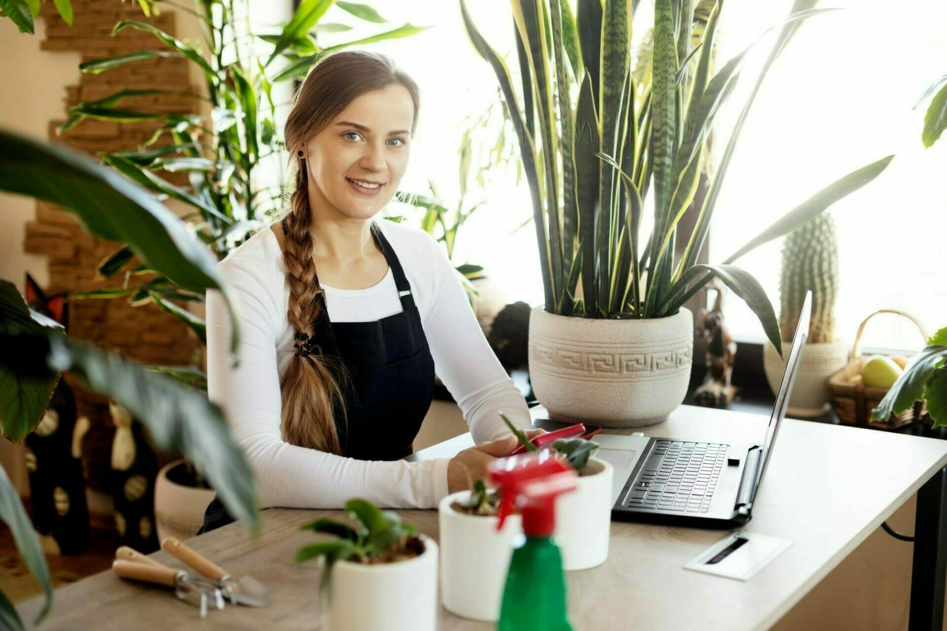 Portrait Of Business Owner Managing eCommerce Webstore