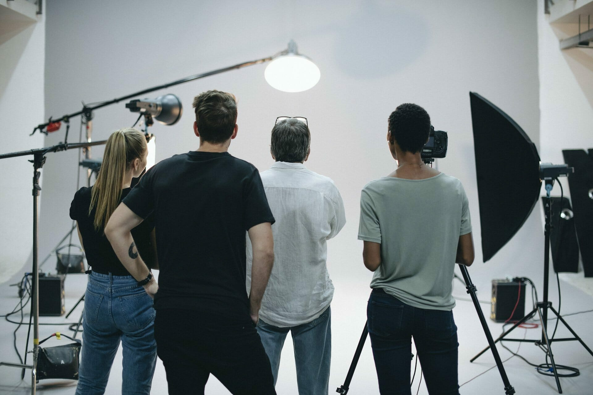 Group Of Marketing Professionals Recording A Promotional Video