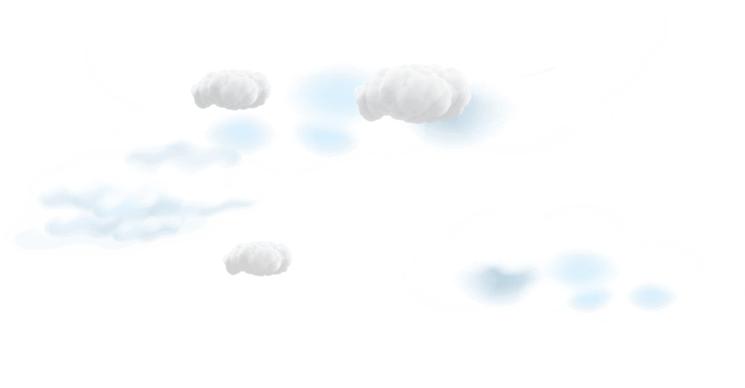Clouds in the background