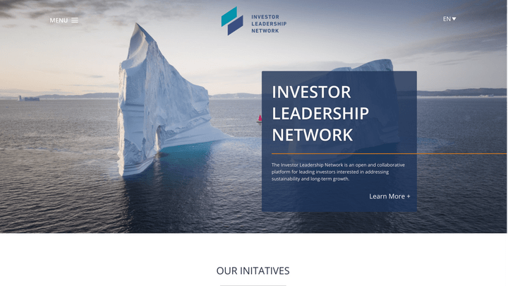 Thumbnail of Web Design project: The Investor Leadership Network