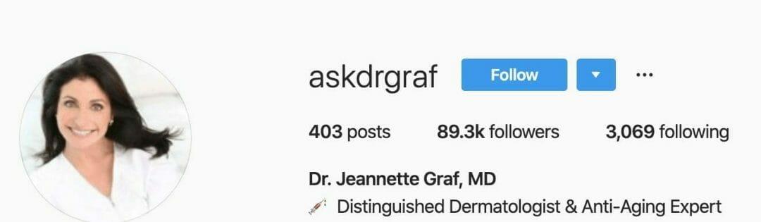 Dr. Jeannette Graf Instagram