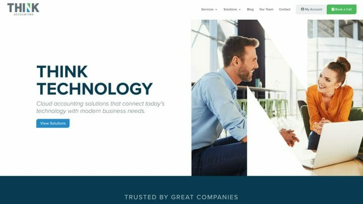Thumbnail of Web Design project: Think Accounting